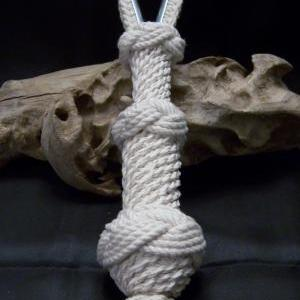 Small White Nautical Bell Rope With..